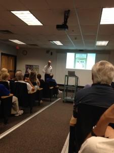 Michael Rosenbloom giving his Power Point presentation.