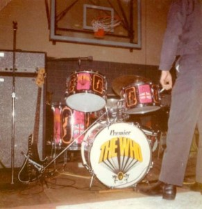 1967,_Nov_29_Union_Catholic_HS_The_WHO_concert_Keith_Moon's_drumset